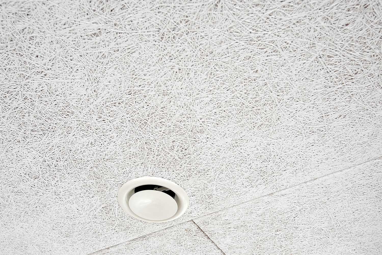 Hvide Troldtekt akustik lofter, type extreme fin i hele huset